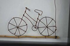 fahrrad aus draht gebogen draht fahrr der und geschenk. Black Bedroom Furniture Sets. Home Design Ideas