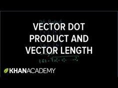 Vector dot product and vector length (video) | Khan Academy