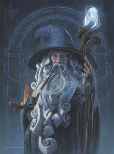 Gandalf (Der Herr der Ringe) von Jerry Vanderstelt - Game Of Thrones // Games and Movies World // Welcome Art Hobbit, Jrr Tolkien, Fantasy Artwork, Digital Art Fantasy, Fantasy Paintings, Watercolor Paintings, Middle Earth, Fantasy Characters, Dungeons And Dragons