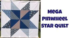 Mega Pinwheel Star Free Quilt Pattern and Beginner Quilting Tutorial-YouTube-15min-Learn how to piece the Mega Pinwheel Star quilt in this beginner quilting tutorial with Leah Day.