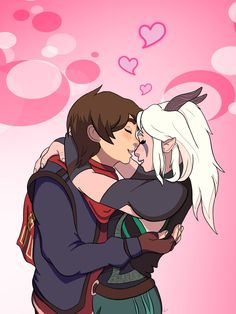 """""""Rayla, I love you. Finished just in time! Just a fluff piece for Callum and Rayla's first Valentine's together as a couple ☺️ References were used and huge thanks to FurDevArts for the. Rayla Dragon Prince, Prince Dragon, Dragon Princess, Dragon Prince Season 3, Rayla X Callum, Cartoon Ships, An Elf, Disney And More, Avatar The Last Airbender"""