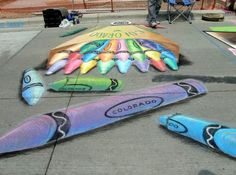 Denver Chalk Art Festival: Photo gallery captures one of the city's great events Amazing Street Art, 3d Street Art, Denver Chalk Art Festival, Chalk Festival, Art In The Park, 3d Chalk Art, Graffiti, Sidewalk Chalk Art, Street Painting