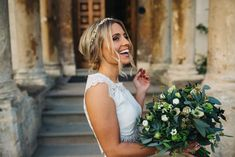 Bride & Groom Portraits by Richard Skins - Stylish Winter Wedding At Elmore Court With Bride In Rime Arodaky Separates And Bridesmaids In Navy Dresses With Images From Richard Skins Photography