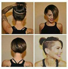 Undercut Hairstyles Women, Bob Hairstyles 2018, Short Hairstyles For Women, Short Brunette Hairstyles, Undercut Styles, Undercut Women, Shaved Hairstyles, Wedding Hairstyles, Short Bob Cuts