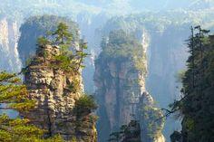 Le parc de Zhangjiajie en Chine