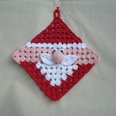 Transcendent Crochet a Solid Granny Square Ideas. Inconceivable Crochet a Solid Granny Square Ideas. Crochet Potholder Patterns, Crochet Motifs, Crochet Dishcloths, Granny Square Crochet Pattern, Crochet Squares, Free Crochet, Crochet Granny, Potholders, Knitting Patterns