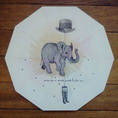 """"""" Asumo que es correcto cuando lo dices así """" posa calientes pieza única #Himallineishon #homedecor #illustration #elephant #handpainted"""