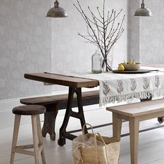 Cosy neutral dining room | Fabulous dining room decorating ideas for dinner parties | housetohome.co.uk