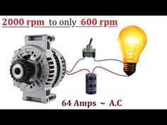64 Amps Car Alternator ( 2000 RPM ) Converted to ( 600 RPM ) - No Circuit or Transformer Needed Propane Generator, Motor Generator, Alternator Repair, Homemade Generator, Electrical Projects, Circuit Diagram, New Energy, Ac Power, Alternative Energy