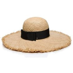 Kate Spade Flat Top Raffia Sun Hat ($88) ❤ liked on Polyvore featuring accessories, hats, beach hat, raffia hat, sun hat, raffia sun hat and kate spade hat