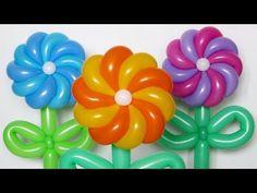Крученая ромашка 10 лепестков / Twisted daisy of balloons (Subtitles) - YouTube
