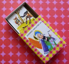 DIY matchbox sticker box from Dimes and Quarters.