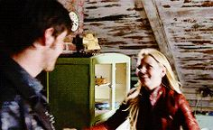"""Emma and Killian - 4 * 22 """"Operation Mongoose"""" #CaptainSwan - One of my Favourite scene <3 these two.. Co,plete Hug and bed scene"""