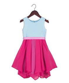 This Pink Chiffon-Tier Dress - Toddler & Girls is perfect! #zulilyfinds