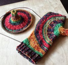 Circles.  Knitting and so on: Knitting