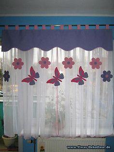 Inspirational Vorhang Querbehang Fensterdeko Kinderzimmer Motiv rosa cm Handarbeit