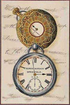 Vintage Pocket Watches Background ~ (pág. 112)   Aprender manualidades es facilisimo.com