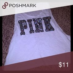 "Victoria Secret Tank Top Size small. Loose fit. Says PINK in ""bling"" :) PINK Victoria's Secret Tops Tank Tops"