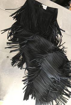 ISSEY MIYAKE pleats please black skirt, unique fringe skirt size 2, Authentic vintage Issey Miyake statement skirt by NUKOBRANDS on Etsy https://www.etsy.com/listing/505816080/issey-miyake-pleats-please-black-skirt