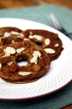 Apple Ring Oatmeal Pancakes