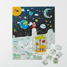 Outer Space 100-Piece Puzzle in All New | The Land of Nod