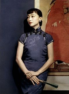 CHINESE LADIES IN CHINESE DRESSES IN OLD PICTURES