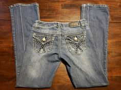 547e6c9332edb Details about ZCO Jeans Premium Womens Juniors Skinny Jeans Size 3 28x30.5  Stretch Flap Pocket