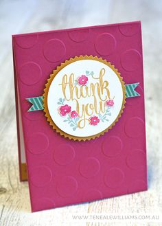 By Teneale Williams  Stamp Set: A Whole Lot of Lovely {Hostess}  Stampin'Up! Artisan Design Team Blog Hop