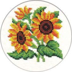 Набор для вышивания крестом и бисером Кларт «Цветы солнца»