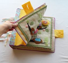 Quiet Book Cover Busy Book Toddler Preschooler by AnneCraftedGifts