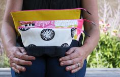 Noodlehead: open wide zippered pouch tutorial size chart. G. Idea