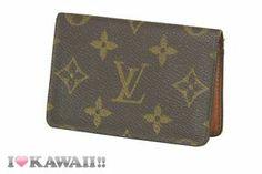 Authentic Louis Vuitton Monogram Bi-fold Card Case Holder Free Shipping!