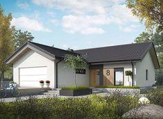 Simon IV G2 energo - zdjęcie 3 Modern Bungalow Exterior, Classic House Exterior, House Paint Exterior, Dream House Exterior, Barn House Design, Sims House Design, Small House Interior Design, Bungalow House Plans, New House Plans