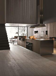 Cozinha integral com ilha KALEA - COMPOSITION 1 by Cesar Arredamenti design Gian Vittorio Plazzogna