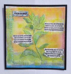 This is Ink off a Gelli Plate, Clarity Stamp Stencils and Stamps, GP and Dry brushing to finish off. by Sam Crowe