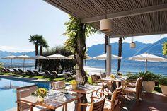 10 Hotspots in Locarno, die ihr kennen solltet - Schweizer Illustrierte Pergola, Marina Bay Sands, Villa, Patio, Table Decorations, Vacation, Building, Outdoor Decor, Switzerland