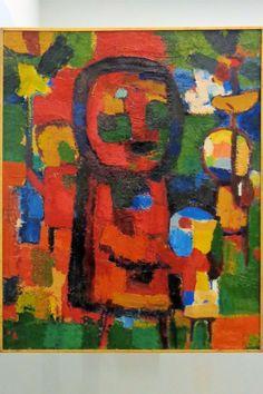 De kunstenaar Gerrit Benner is autodidact; zijn stijl is ongeschoold. Inspiratie voor zijn werk haalt hij uit zijn directe omgeving. De liefdevolle verwondering voor wat hij daar tegenkomt, is het overkoepelende thema in zijn werk. Zijn schilderijen zijn tegelijkertijd vrolijk en ingetogen. Dit kunstwerk is vrijwel geheel opgebouwd uit kleine, kleurige vlakjes, aangebracht met een breed penseel. De dikke donkere contour zorgt ervoor dat we een persoon gaan zien, mogelijk een kind.
