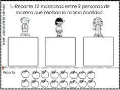 Hola compañeros docentes proporcionamos estos excelentes ejercicios de reparto agradecemos al Profesor Agustín Pérez Márquez por este fabuloso material de Teacher, Education, Math, Ideas, Math Olympiad, Math Lessons, Infant Learning Activities, Math Activities, Mathematics