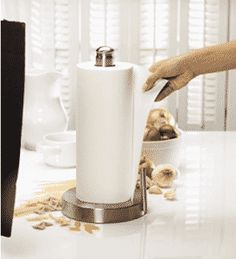 Kamenstein Designer Kitchen Roll Paper Towel Holder Stainless Steel Easy to Use Paper Towel Rolls, Paper Towel Holder, Towel Holders, Best Paper Towels, Paper Tower, Quick Rolls, Toilet Paper Art, Small Bars, Cardboard Tubes