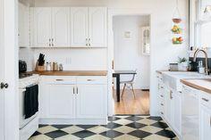 Bright, Modern Kitchen with Butcher Block