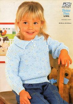 Childs sweater childs polo shirt Childrens knitting pattern PDF Download…