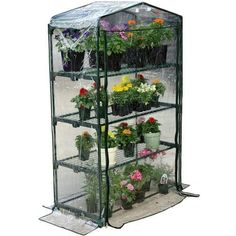 4-Tier Growing Rack Planter Stand Greenhouse with Thermal Cover - Quality House