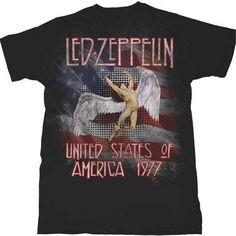 4d35d2d42f5  LedZeppelin America 1977  Shirt Band Shirts