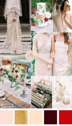 Ivory and Autumn Wedding Colours for a Classy Vintage Wedding Theme | read more : http://www.itakeyou.co.uk/ivory-autumn-wedding-colours-vintage-wedding-theme/ #vintage #autumnwedding