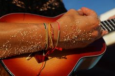 ukulele tunes and colourful bracelets //melonseedjewellery