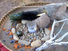 An altar can be made from anything you are drawn to. I love collecting rocks and branches.