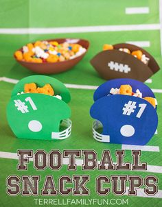 Football Snack Cups, Football Themed Party Favors