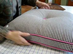 Haberman Fabrics - Invisible Zipper on Pillows with Welting: the BEST zipper tutorial--I'm just glad I don't have to pay each time I watch it! I'm no longer afraid to used invisible zippers!
