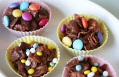 Crunchy Cornflake Nests, a cute Easter treat.