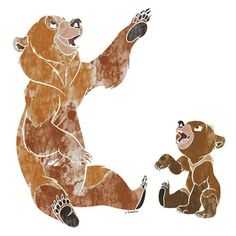"""Koda & Kenai ~ """"This is the story of a boy who became a MAN… by becoming a BEAR. Disney Pixar, Arte Disney, Disney Fan Art, Disney And Dreamworks, Disney Movies, Old Cartoon Movies, Old Cartoons, Brother Bear Quotes, Disney Drawings"""